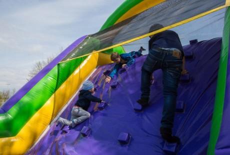 Надувная полоса препятствий для детей BR Парк развлечений  Дримлэнд  DreamLand