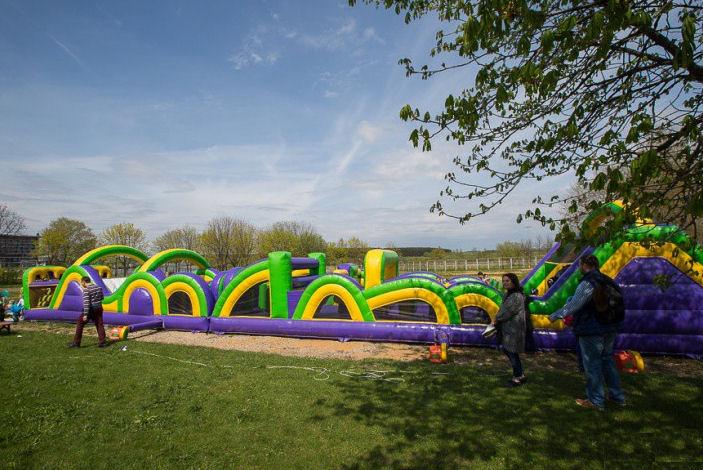 Надувная полоса препятствий для детей BR Парк развлечений  Дримленд  DreamLand