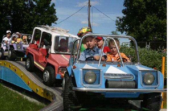 Детский аттракцион  Конвой  3 машинки по 4 места в каждой BR Парк развлечений  Дримленд  DreamLand