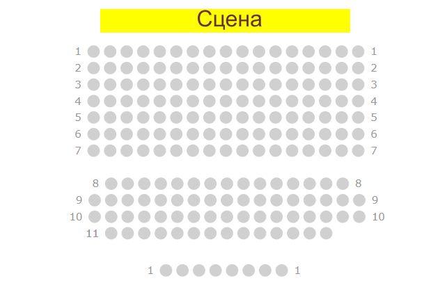План зала  Схема зала   BR Театр-студия киноактера  г. Минск  Беларусь