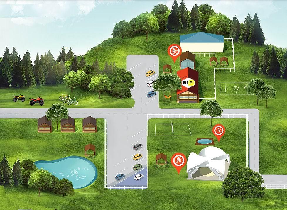 План  загородного комплекса  Комарово