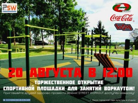 Спортивная площадка для занятий Street Workout  г. Пинск  Беларусь