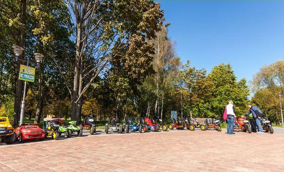 Прокат велосипедов  в парке  900-летия   г. Минск
