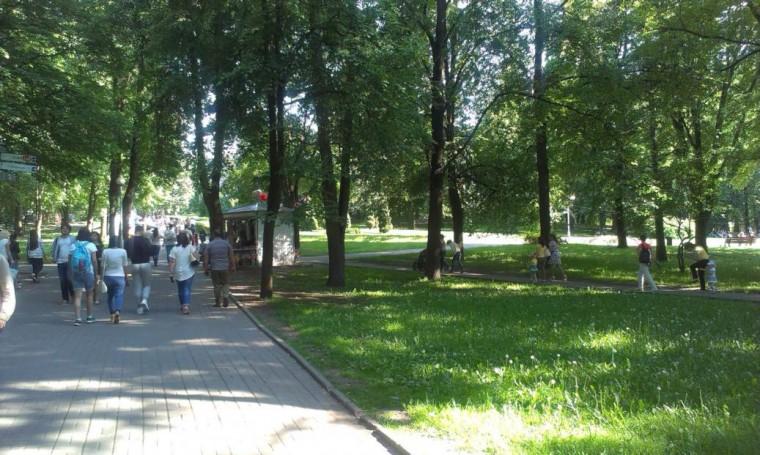 28 мая 2016  вечером  в парке Горького