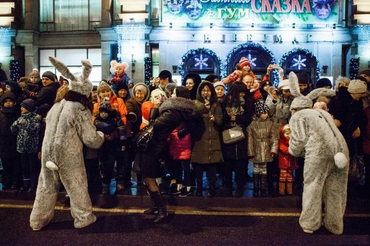 Шествие  парад Дедов Морозов в Минскее 23 декабря 2017