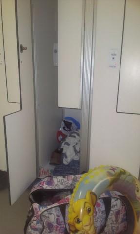 Шкафчик для одежды  в  Аквапарке Лебяжий  2 июля 2016 г. Минск  проспект Победителей  120