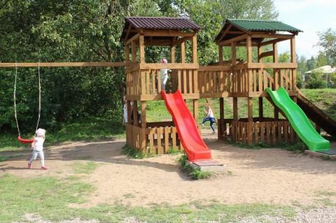 Детская площадка в Динопарке  27 августа 2016 на территории Минского Зоопарка  г. Минск  улица Ташкентская  40