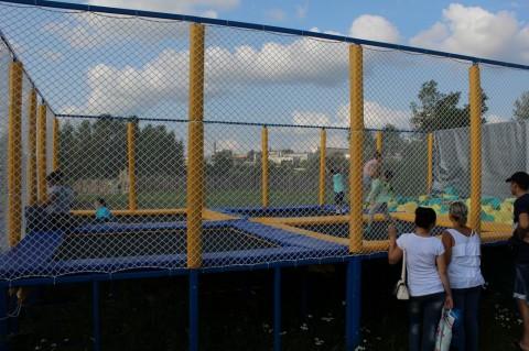 Батуты  на  Детской площадке  в Минском Зоопарке  27 августа 2016   г. Минск  улица Ташкентская  40