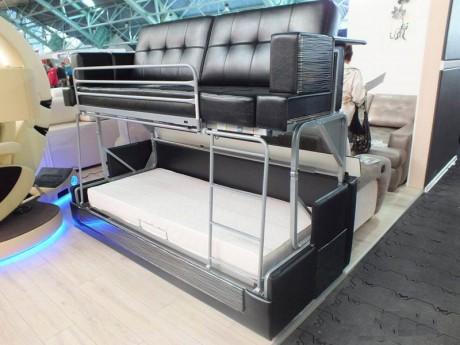 """Двух-ярусная кровать легко трансформирующуюся в уютный диван Выставка ярмарка """"Мебель - 2015"""""""