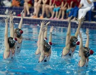 Синхронное плавание для детей <BR>(Физкультурно-оздоровительный комплекс 'Мандарин' , г. Минск , улица Герасименко, 51)