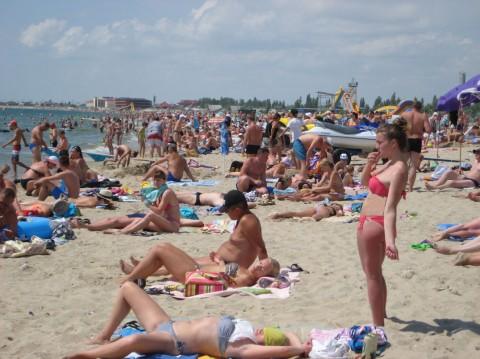 Пляж  возле пансионата  Сказка   утром в 10:46  3 июля 2015  BR Затока  Одесская область  Украина