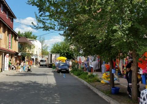 Центральная улица  возле базы отдыха  Рось  Затока  Одесская область  Украина  12 августа 2016