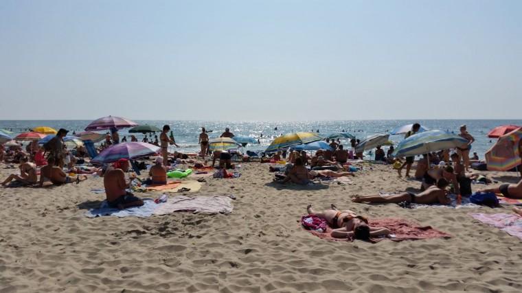 Пляж  на базе отдыха  Рось   утром в 10:08  6 августа 2016  BR  Затока  Одесская область  Украина