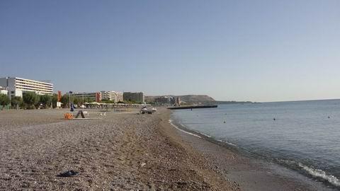 пляж отеля Olympos Beach 4*  остров Родос  Греция