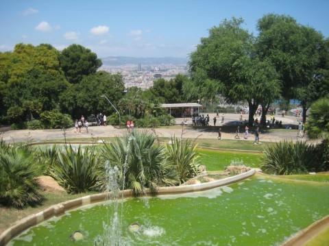 гора Монжуйк вид на город BR г. Барселона  Испания