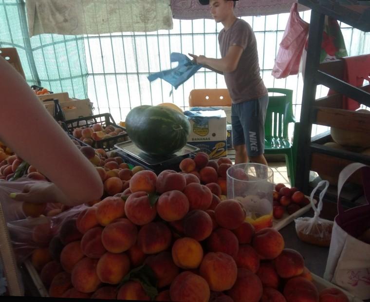 Купили арбуз на рынке  рядом с остановкой  Солнечная  поселок Затока  Украина  время 15:10  13 июля 2017