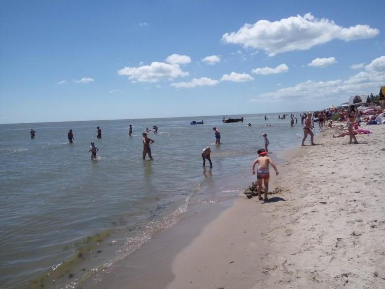 Море  пляж  База отдыха  Рось   Затока  Украина  время 11:05  14 июля 2017