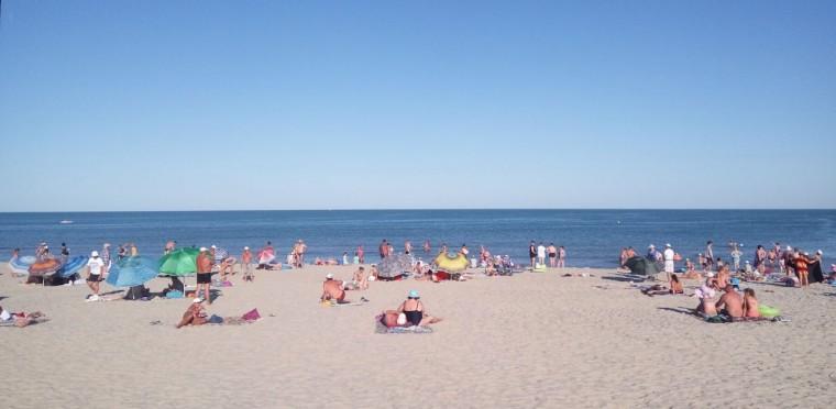Пляж  море  База отдыха  Рось   время 18:27  14 июля 2017
