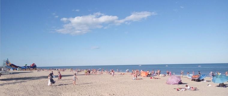 Пляж  море  База отдыха  Рось   время 18:25  14 июля 2017