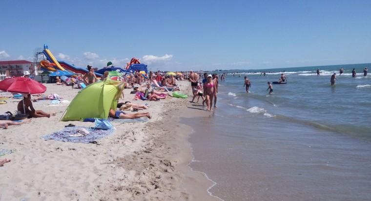 Пляж  море  База отдыха  Рось   время 10:57  15 июля 2017