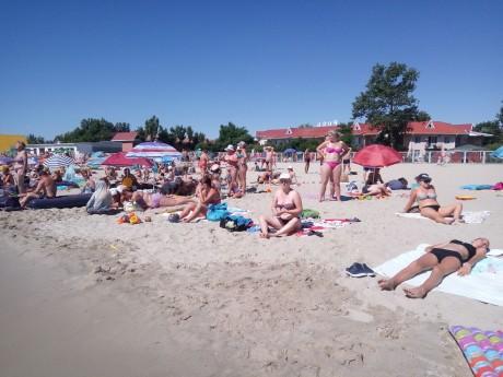 Пляж  море  База отдыха  Рось   время 10:34  15 июля 2017
