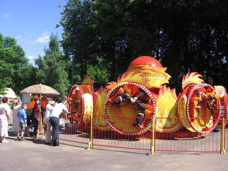 Аттракцион  Колобок   BR Парк Челюскинцев  г. Минск  Беларусь