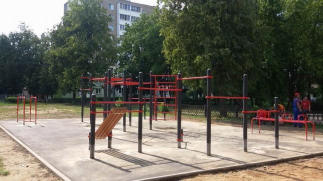 Спортивная площадка  для занятий Street Workout г. Солигорск  Беларусь