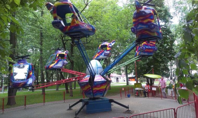 Вертолеты в парке Горького  г. Минск 28 мая 2016