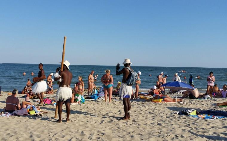 Пляж  на базе отдыха  Рось   в 17:51  14 августа 2016  BR  Затока  Одесская область  Украина