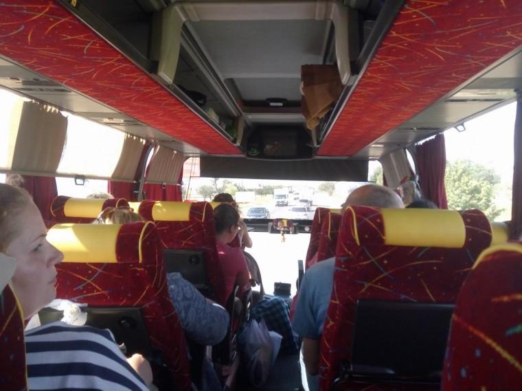 Едем в автобусе  возле Одессы  утро 9:45  12 июля 2017