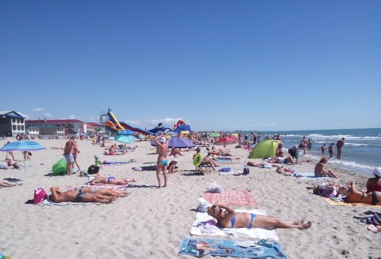 Пляж  море  База отдыха  Рось   время 10:33  15 июля 2017